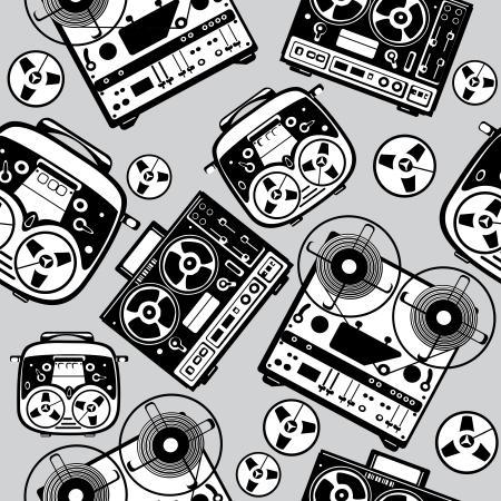 magnetofon: bezszwowe wzór reel tape recorder