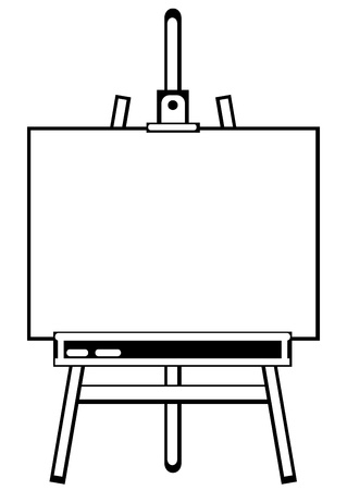 artist s easel tripod on white background  Vector