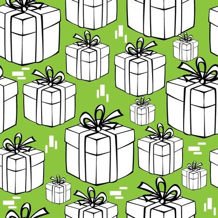 seamless pattern gift box