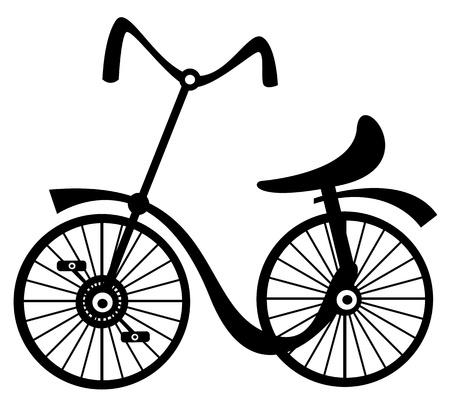childrens bike on white background Illustration