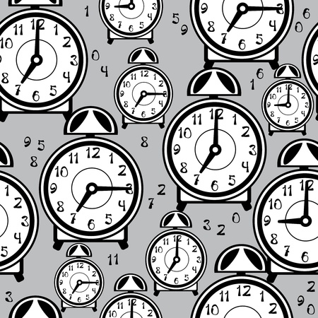seamless pattern alarm clock  Vector