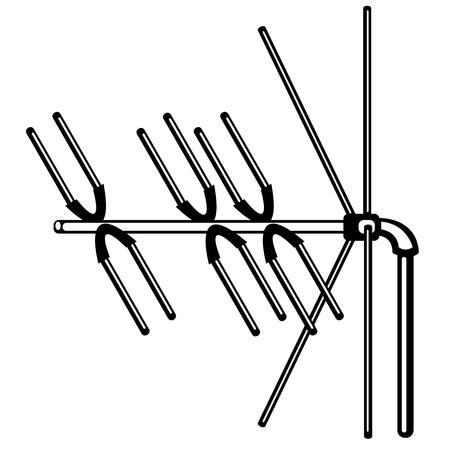 television antenna on white background