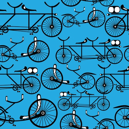 bicicleta retro: Modelo incons?til de la bicicleta retro Vectores