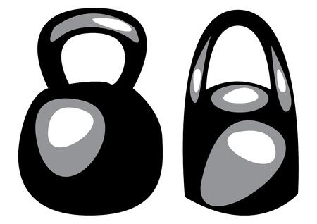 dumbbells isolated on white background  Vector