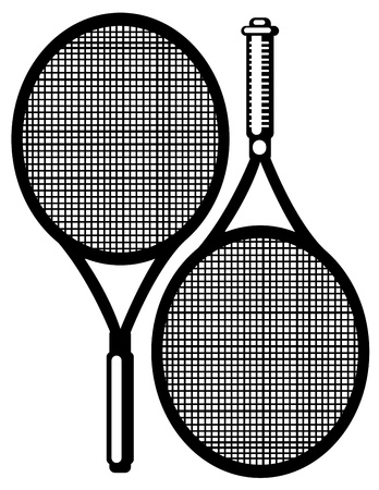 raquet: tennis racket isolated on white background