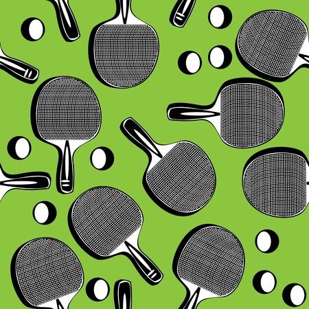 ping pong: seamless pattern ping pong tennis racket  Illustration