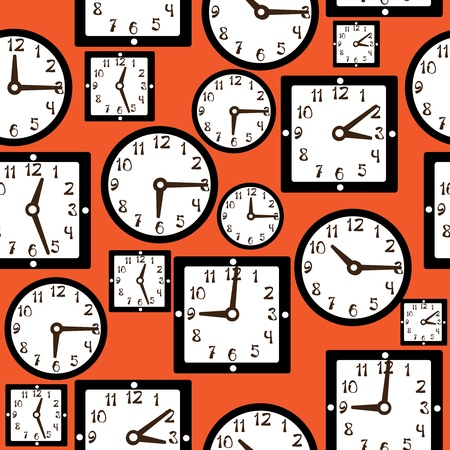 seamless pattern clock Vector