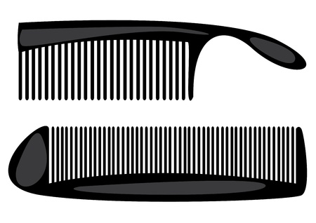 combs isolated on white background Vector