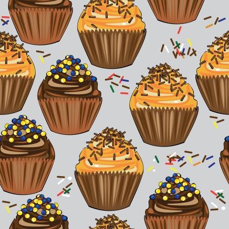 seamless pattern cake  Illustration