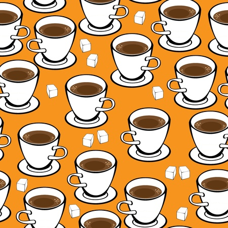 seamless pattern cup of coffee  Illustration