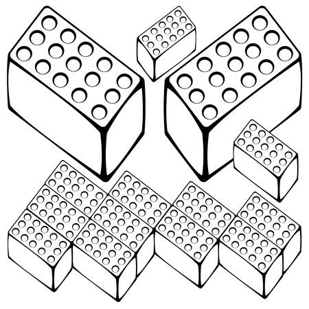 flagstone: flagstone set isolated on white background