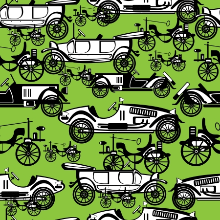 seamless pattern retro automobile