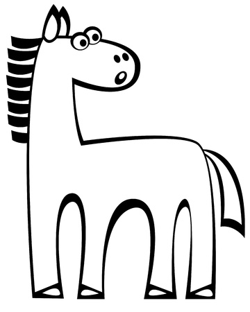 vector horse on white background Vector