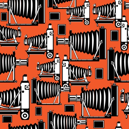 seamless pattern vintage film photo cameras Stock Vector - 21985045