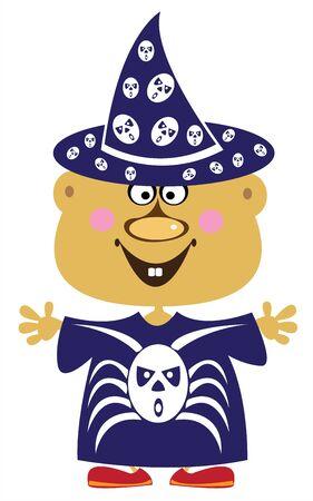 carnival costume: boy in carnival costume Halloween