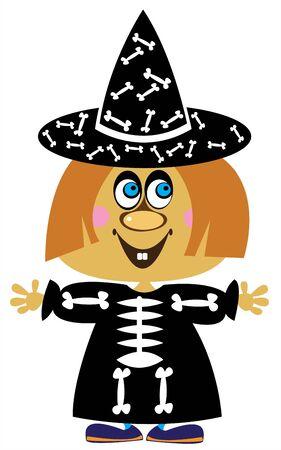 carnival costume: girl in carnival costume Halloween