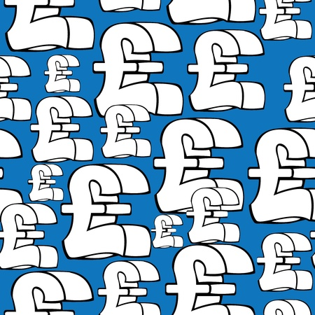 seamless pattern pound sterling symbol  Vector