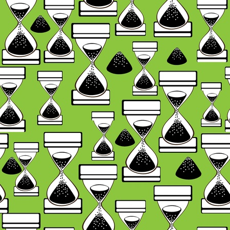 seamless pattern hourglass  Vector