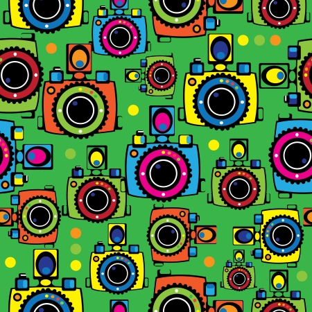 seamless pattern youth camera Vector