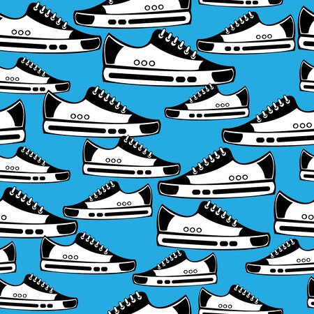 seamless pattern youth shoes