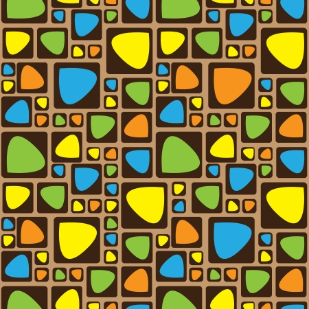 seamless pattern colored ornament Illustration