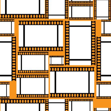 seamless pattern negative film Illustration