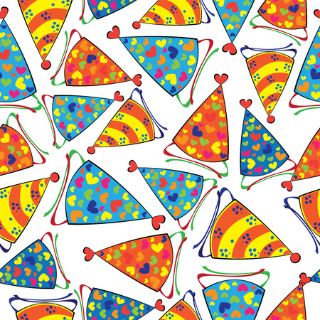 seamless pattern caps festive  Vector