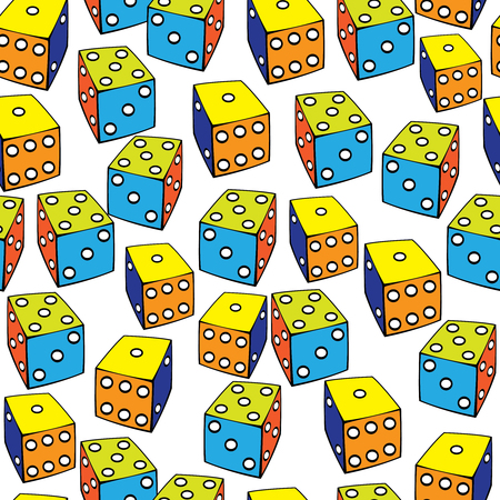 seamless pattern colored dice Stock Vector - 22737472