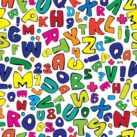 multicolor english alphabet seamless pattern