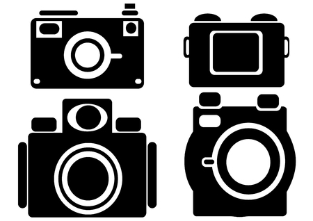 camera icons isolated on white background Vector