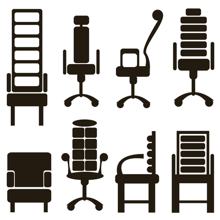furniture icons isolated on white background Vector