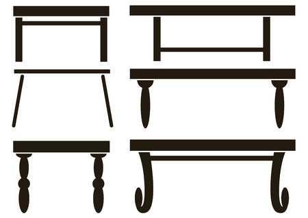 furniture a table icons isolated on white background Illustration