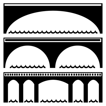 bridge icons isolated on white background
