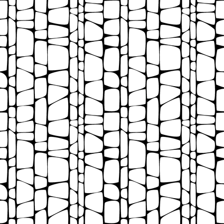 monochrome ornament seamless pattern Vector