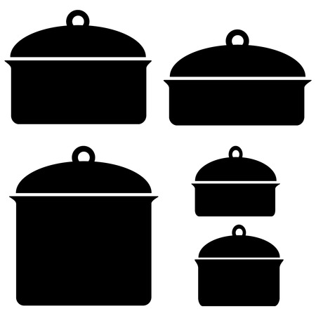 kitchenware icons on a white background