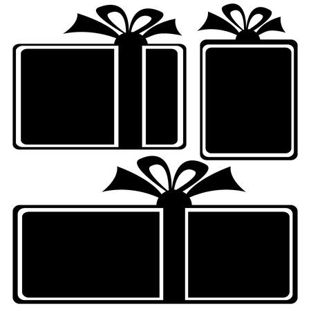gift box icons on white background