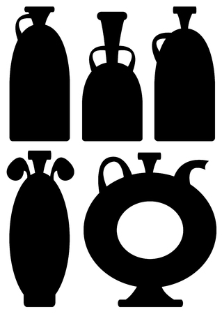 vases icons isolated on white background Vector