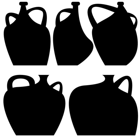 decorative vases icons isolated on white background Vector