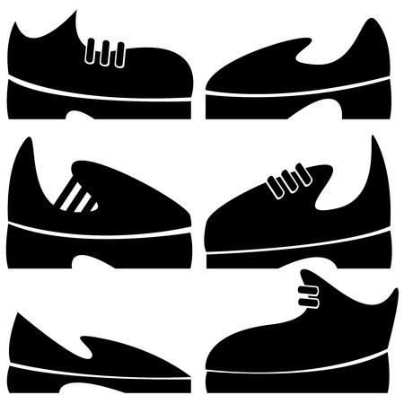 men's shoes: men s shoes of icons set