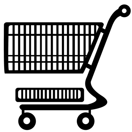 shopping trolley isolated on white background Vector
