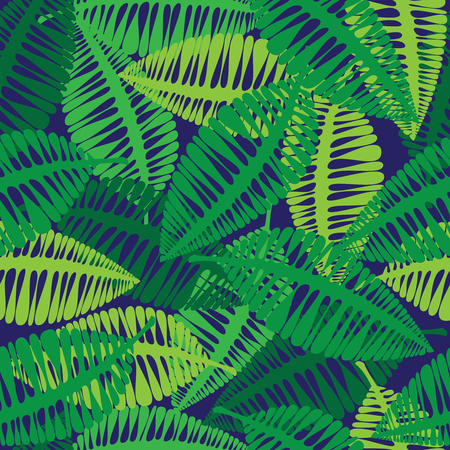 green leaves of seamless pattern