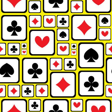 playing card symbols: jugando s�mbolos de la tarjeta sin fisuras patr�n Vectores
