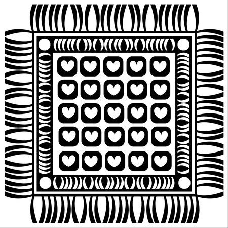 floor mat: floor mat isolated on white background  Illustration