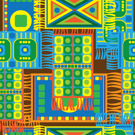 multicolored floor mats seamless pattern Vector
