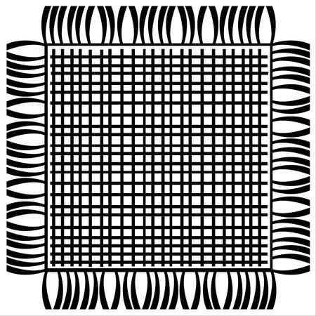floor mat: floor mat isolated on white background