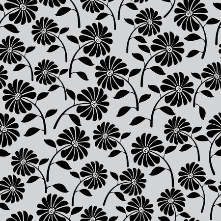 cute wild flowers seamless pattern Vector