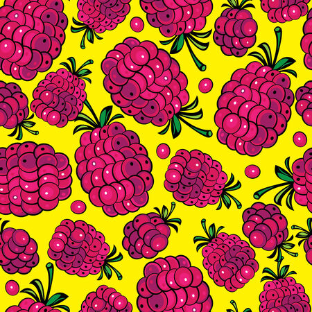 multicolor raspberry seamless pattern  Vector