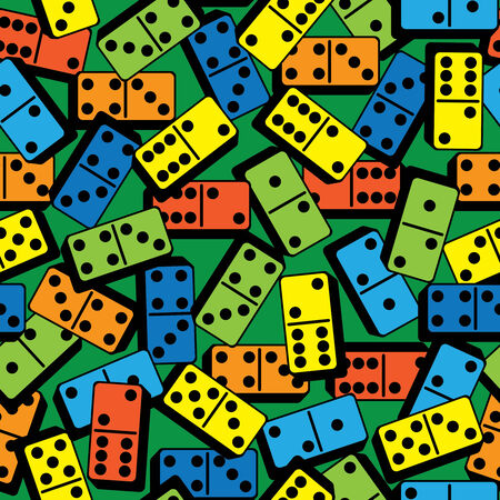 color domino seamless pattern Vector