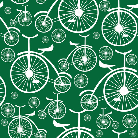 retro bicycle seamless pattern  Vector