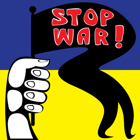 Stop the war in Ukraine Poster Vector